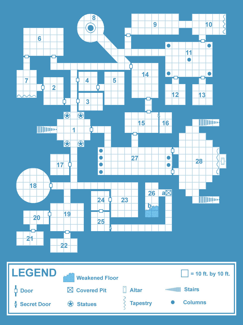 Old School Blue\' Dungeon Maps   Creative Commons Licensed Maps ...