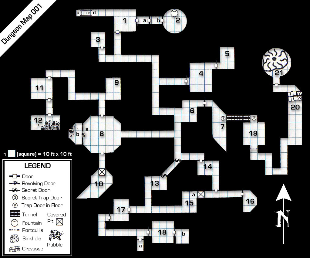 BampW Dungeon Maps Creative Commons Licensed