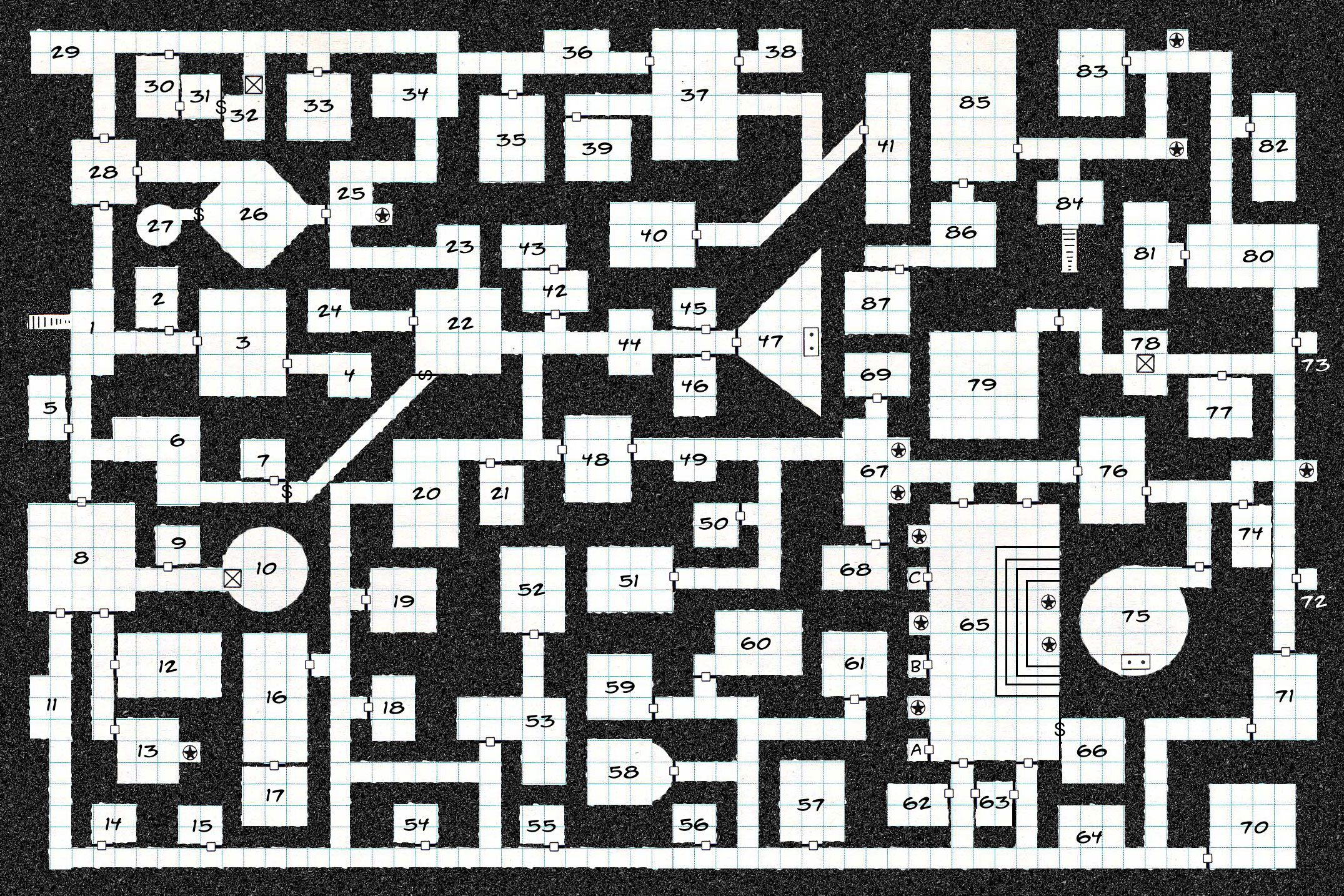 B&W Dungeon Maps | Creative Commons Licensed Maps | Paratime Design on