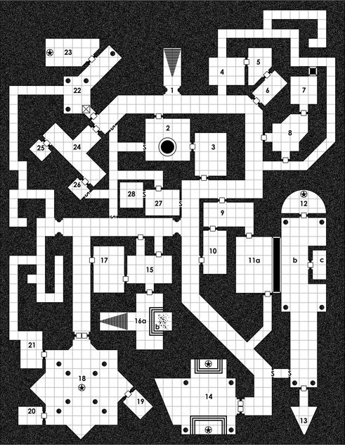 D&D dungeon map