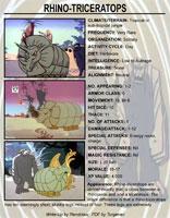 Herculoids Tundro the Rhino-Triceratops